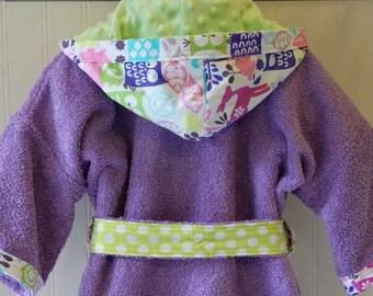 Child-Robes-Girls-Girl Robe-Owls-Forest-Animals-Bathrobes-Children-Sleepwear-Swim-Pool-Hooded-Bath-Swim-Cover-Up-Gift-