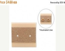 Summer Stock Up Sale 50 Pack Taupe Color Velour Blank 1x1 Inch Hanging Plastic Ear Cards