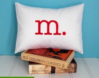 calicodaisy gems - TYPO - Monogrammed Pillow Cover - Choice of Size and Colors