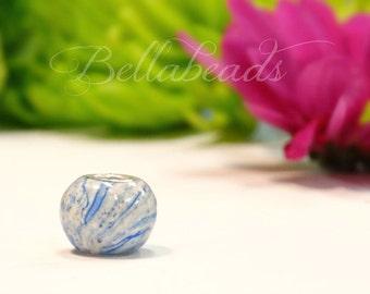 Flower Petal Jewelry,Handmade Beads,Large Hole Charm, Memorial Beads, Keepsake Jewelry, Flower Petals, Memorial Jewelry, Round Charm