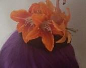 Flamingo hat, tiki, kawaii, pin up, Flamingo hat, wedding, pink flamingo, pink flamingo, vintage style,rockabilly