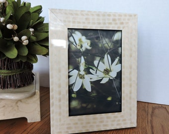 Rosee Art Floral Photo and Frame Cream white black green