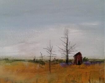 Deer Lake Rd. Original Landscape Painting 8 x 10