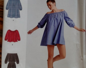 Simplicity Cynthia Rowley Romper and Mini Dress or Top Pattern