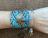 let faith ARISE - hand stamped embossed leather cuff bracelet
