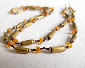 gold tube beads hand knotted ethnic beads & carnelian supplies necklace