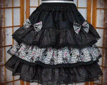 Gothic lolita butterfly skirt