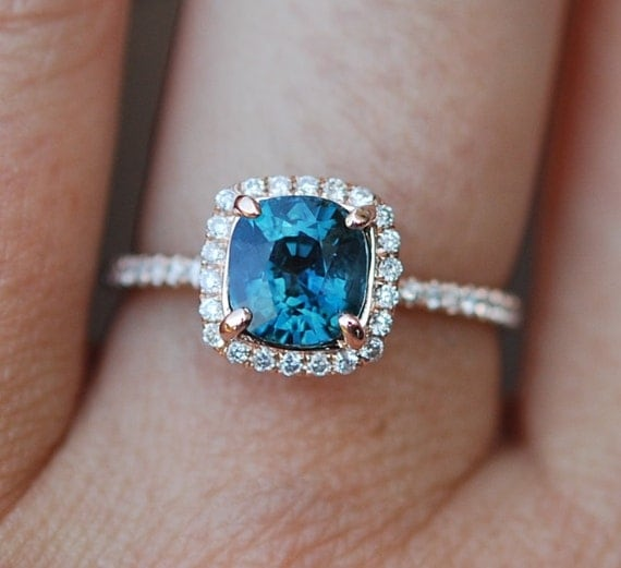 blue green sapphire engagement ring peacock sapphire 1 84ct