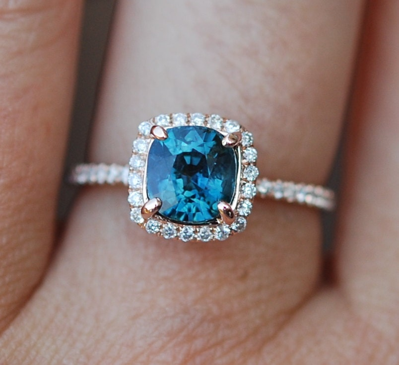 blue green sapphire engagement ring peacock sapphire. Black Bedroom Furniture Sets. Home Design Ideas