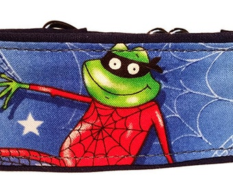 "Spider Frog 2""  Martingale Collar-"