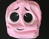 Cutesy Pink Monster Pocket Cloth Diaper