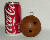 Metal Rusty Bell with Star Cutouts, Set of 3 80MM or 3 1/8 Inch, Wreaths, Garlands, Trees