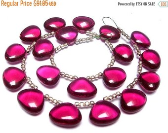 55% OFF SALE Wholesale - Gorgeous Hot Pink Quartz Smooth Polished Heart Briolettes Calibrated Size 12x11mm approx, 8 Inches Strand