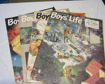 4 Copies of 1950's Boys' Life