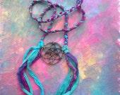 Sacred geometry mandala soft goddess necklace