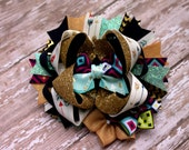 Gold and Arrows boutique OTT hairbow for toddlers or infants