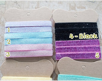 Glitter Ribbon Sewing Tape Trim -  5 yards - Pick You Own Color