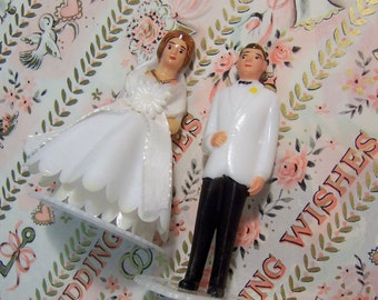 perfect pair wedding day cake toppers