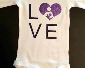 Love Breastfeeding onesie