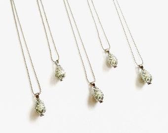 Wholesale Bulk OIL DIFFUSER Necklace Heart Filigree Silver 5 Pcs