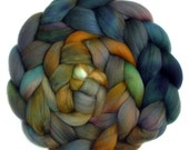 19.5 Micron Superfine Merino Roving Handdyed Combed Top, Under the Dock, 5.3 oz.