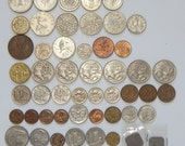 Lot of 50 Foreign WORLD COINS - 1950s to 1980s UK, Australia, Thailand + More - Great for Collecting or Jewelry Making