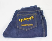 GILLEY'S 80s Boot Cut Blue Jeans