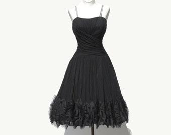 Black Chiffon Shoulder Strap Dress