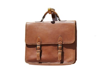 Men's Grande Mud Brown Leather Briefcase