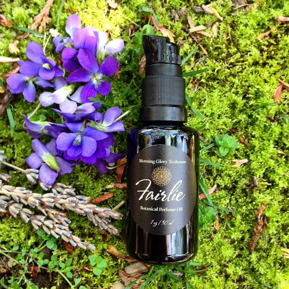 FAIRLIE Botanical Perfume Oil ~ Violet Leaf, Mimosa, Jasmine Sambac, Pink Lotus & Moss ~ green, subtle floral notes, earthy, woody, unisex