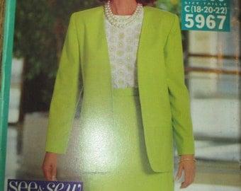 Skirt Blouse and Jacket Uncut  Pattern size 18-20-22