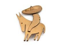 REBAJES Copper Jewelry - Mid Century Brooch, Man with Sombrero on Donkey