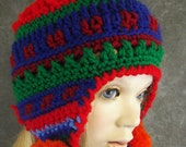 Crochet Toddler Hat, Chullo Hat, OOAK Hat, Accessories, Hats and Caps, Children, Earflap Hat,Toddler Hat,Girls, Boys,Handmade Cap,Winter Hat