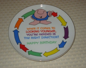 Vintage Ziggy birthday fine porcelain plate from 1983