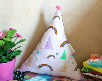 Rainbow Candy Triangle Plush