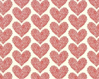 Italy Paper Letterpress Valentine Hearts Italian Paper Rossi  LTP04