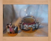 RESERVED FOR magswheels2002 ONLY! Wizard of Oz Glass Globe and Stand with Ceramic Figurines Included