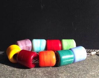 MruMru big hole handmade lampwork beads.