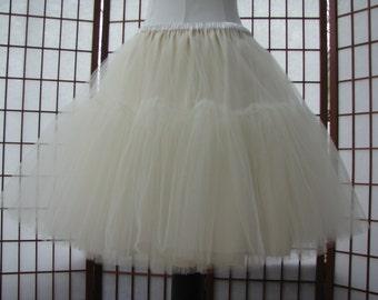 Tulle Skirt Ivory Fully Lined -- Custom Order