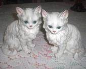 2 sweet Blue Eyed Kittens by Lefton