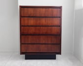 lane MODERNIST mid century modern walnut gentleman's chest