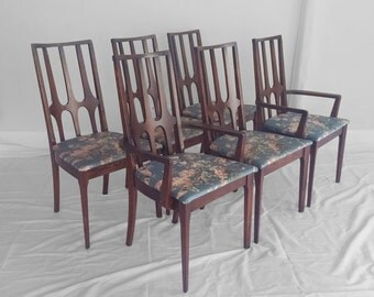 Reserved reserved reserved 6 brasilia by BROYHILL mid century modern walnut dining chairs