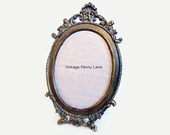 Fancy Vintage Italian Brass Metal Frame, Tabletop or Wall Hanging