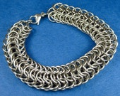Stainless Steel Persian Dragonscale Weave Chainmaille Bracelet