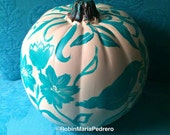 Pumpkin painted faux white free shipping