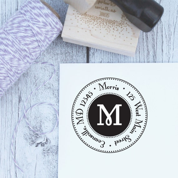 Glam Customized Address Stamp; Rubber Stamp; Self Inking; Wooden Stamp; Housewarming Gift
