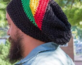 Slouchy Rasta Hat- Extra Large