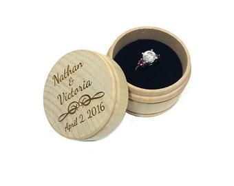 Wedding Ring Box,Engagement Ring Box,Wooden Ring Box,Personalized Ring Box,Wedding Ring Box Holder