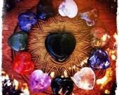 Gemstone Hearts . Choose your Stone