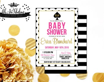 Girly  // Baby Shower Invitation // Gender Neutral /// PRINTABLE